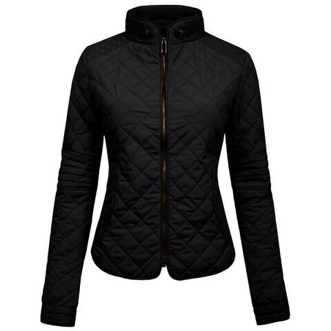 NE PEOPLE Womens Lightweight Quilted Zip Up Jacket [NEWWJ22]