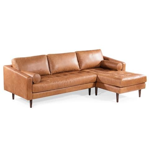 Poly and Bark Napa Right-facing Sectional Sofa
