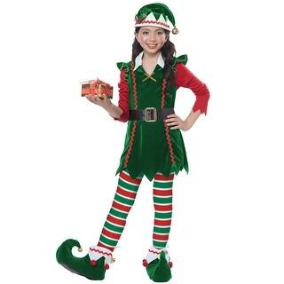 California Costumes Festive Elf Child Costume - Green/Red