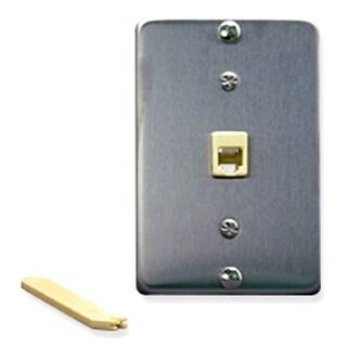 ICC ICC-IC630DA6SSM Wall Plate IDC 6P6C STAINLESS STEEL