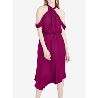 Rachel Rachel Roy Purple Orchid Women 10 Cold-Shoulder Sheath Dress