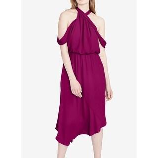Rachel Rachel Roy Purple Orchid Women 14 Cold-Shoulder Sheath Dress