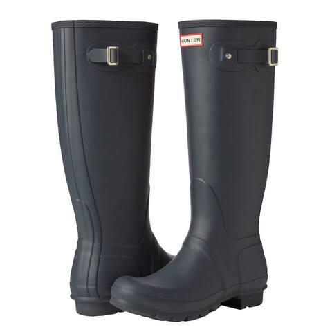 Hunter Women's Original Tall Rain Boots (Navy/ Size 8)