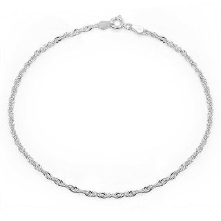 Bling Jewelry Sterling Silver Anklet Singapore Chain Ankle Bracelet Italy