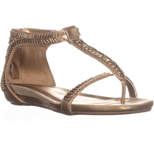 Kenneth Cole REACTION Lost You T-Strap Sandals, Gold