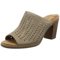 TOMS Womens Majorca Suede Open Toe Mules