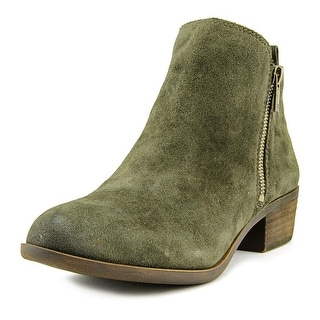 Lucky Brand Basel Women Round Toe Suede Green Bootie