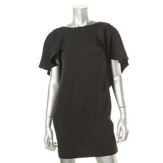 Calvin Klein Womens Petites Capelet Dress Caplet Batwing