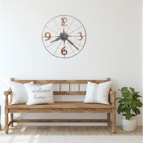 Howard Miller Phan Rustic, Transitional, Vintage, and Industrial Style Gallery Wall Clock, Reloj De Pared