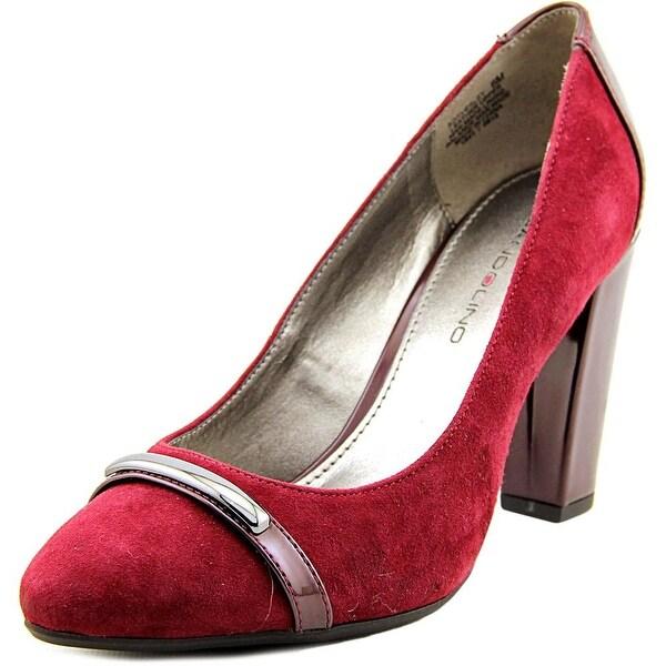 Bandolino Everley Women Round Toe Suede Burgundy Heels
