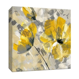 """PTM Images 9-146854  PTM Canvas Collection 12"""" x 12"""" - """"Buttercup II"""" Giclee Flowers Art Print on Canvas"""