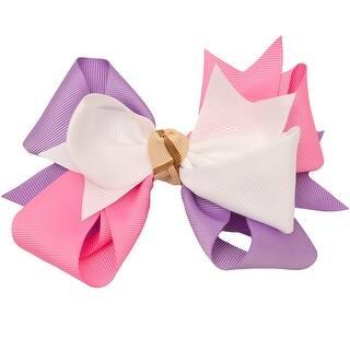 Girls Pink White Lilac Grosgrain Knotted Bow Alligator Hair Clippie|https://ak1.ostkcdn.com/images/products/is/images/direct/61f5e7d817960240fc3d996b945b8a5bd6e9d5fd/Girls-Pink-White-Lilac-Grosgrain-Knotted-Bow-Alligator-Hair-Clippie.jpg?impolicy=medium