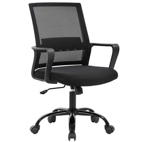 Global Pronex Executive Office Chair & Mid-back Black Mesh Chair