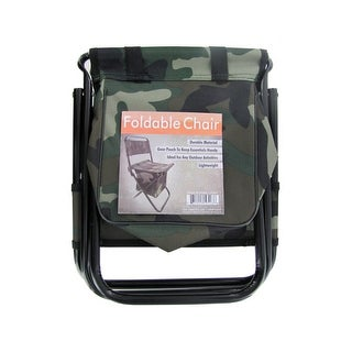 Camouflage Foldable Chair With Zipper Gear Pouch Pack Of 4