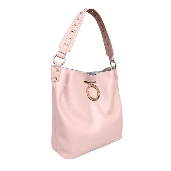 7c4631440 Shop Versace EE1VTBBA1 E400 Light Pink Tote Bag - 12.5-12.5-5 - Free ...