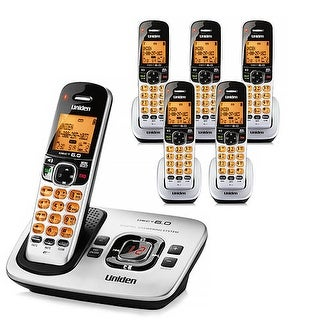 "Refurbished ""Uniden D1780-6 DECT 6.0 Cordless Phone w/ 5 Extra Handsets"""