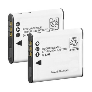 Battery for Pentax DLi92 (2-Pack) Camera Battery