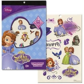 Disneys Temporary Tattoo Book Party Accessory (Sofia The First)