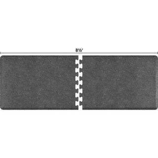 WellnessMats Anti-Fatigue Office & Kitchen Mat, PuzzlePiece Collection R Series, 8.5 Feet by 3 Feet, Granite Steel