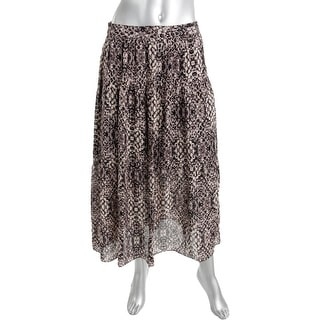 Haute Hippie Womens Silk Printed Maxi Skirt