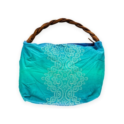 Aeropostale Womens Braided Paisley Tote Handbag Purse - Small (17 in. - 22 in.)