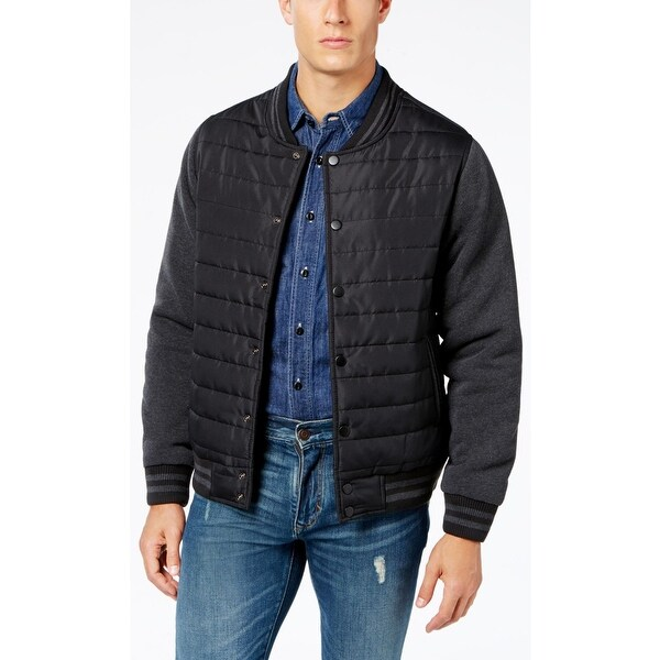 Shop Ring Of Fire Mens Bomber Jacket Winter Quilted On Sale