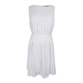 Lauren Ralph Lauren Women's Eyelet Popover Dress - White