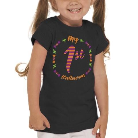 My First Halloween Candy Doodles Girl's T-shirt