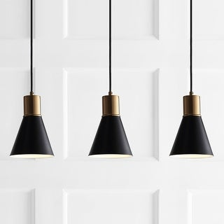 """Link to Apollo 33.5"""" 3-Light Modern Metal LED Cluster Pendant, Black by JONATHAN  Y Similar Items in Pendant Lights"""