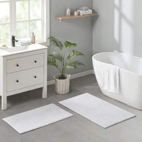 Loft 100-percent Cotton Reversible Antimicrobial Bath Rug by Clean Spaces