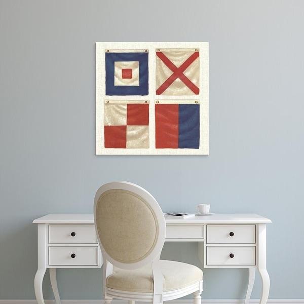 Easy Art Prints James Wiens's 'Nautique XII' Premium Canvas Art