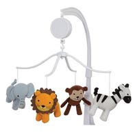 Bedtime Originals Jungle Buddies Animal Theme Musical Baby Crib Mobile