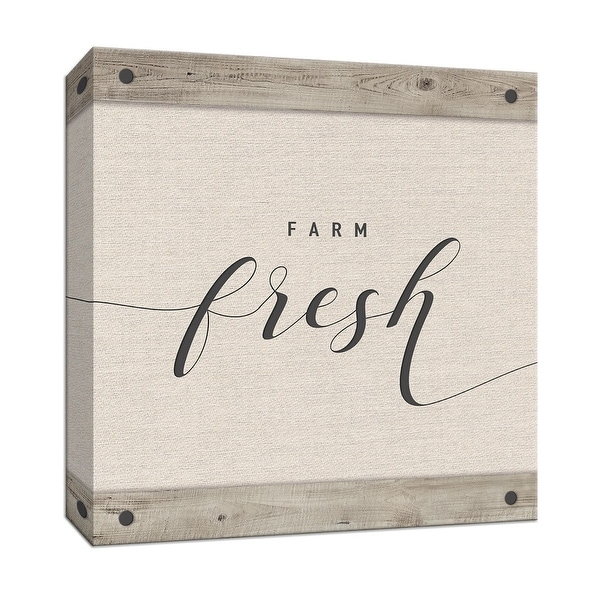 "PTM Images 9-147850 PTM Canvas Collection 12"" x 12"" - ""Farm Fresh"" Giclee Text and Symbols Art Print on Canvas"
