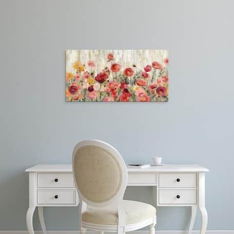 Silvia Vassileva's 'Sprinkled Flowers Crop' Canvas Art