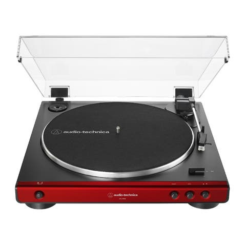 Audio Technica AT-LP60X Automatic Belt-Drive Stereo Turntable (Red)