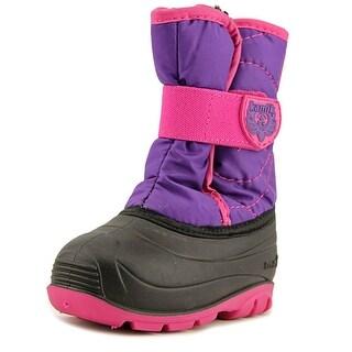 Kamik Snowbug 3 Toddler Round Toe Canvas Purple Winter Boot