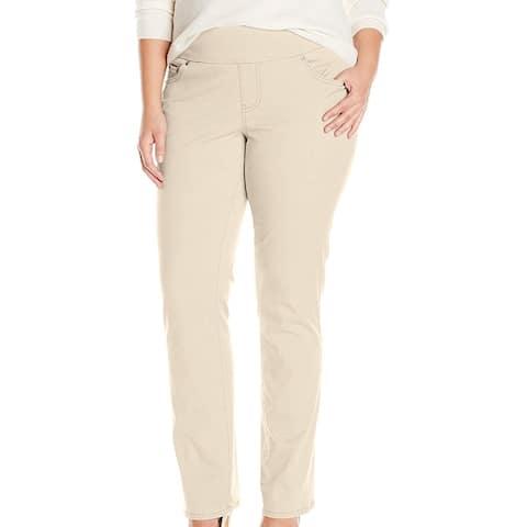 Jag Women's Dress Pants Classic Beige Size 6X28 Peri Pull On Stretch