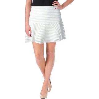 JOA Womens Cut-Out Knee-Length Flare Skirt
