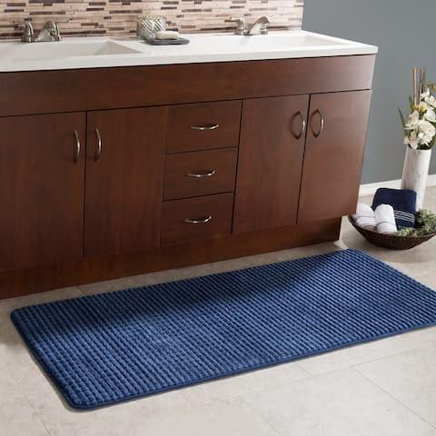 "24""x59"" Memory Foam Extra Long Bath Mat by Windsor Home - Woven Jacquard Fleece"