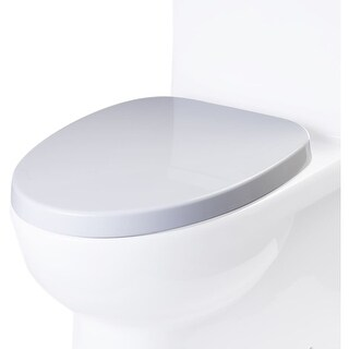 Eago R-359SEAT Elongated Closed-Front Toilet Seat with Soft Close Hinges - White - N/A