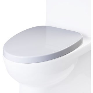 Eago R-359SEAT Elongated Closed-Front Toilet Seat with Soft Close Hinges - White