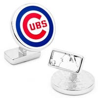 Sterling Silver Chicago Cubs Cufflinks