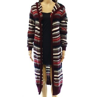 Make + Model NEW Red Striped Women's Size Large L Hooded Sweater