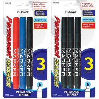 DDI 1916127 3 pack Permanent Markers (Style #793) Case of 48