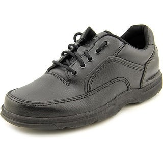 Rockport Eureka Men W Round Toe Leather Black Walking Shoe