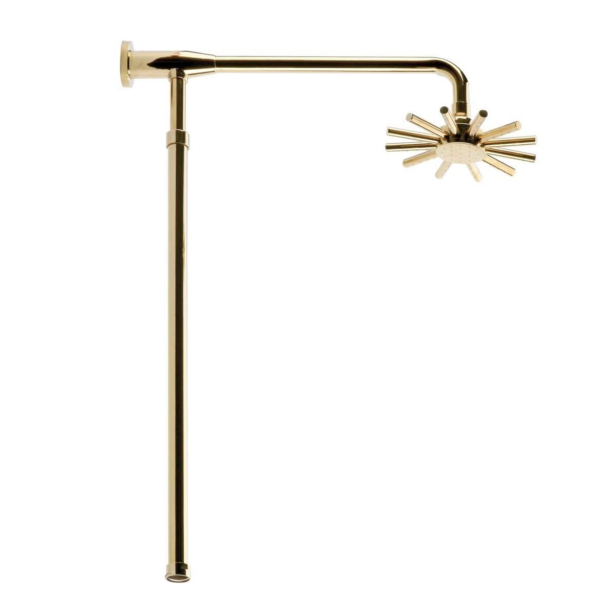 Golden Adjustable Shower Riser Rainfall Head Clawfoot Bath Tub Shower Faucet Part