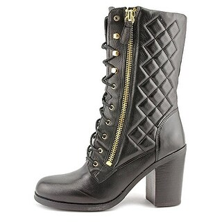 Guess Jacqui Leather Quilted Military Booties