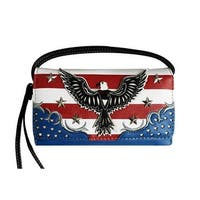 Western USA Stars and Stripes American Eagle Convertible Wallet