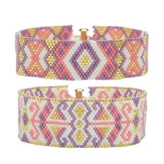 Odd Count Peyote Duo Bracelets - Jasmine - Exclusive Beadaholique Jewelry Kit