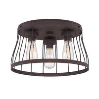 Designers Fountain 86821 Brooklyn 3 Light Flush Mount Ceiling Fixture